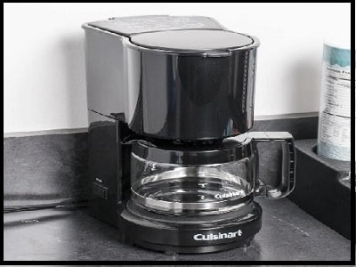 Conair Cuisinart WCM04B 4-Cup Coffee Maker Black with Glass Carafe