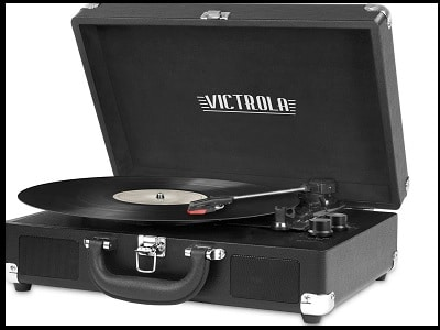 Victoria vintage 3-speed suitcase record player upgraded turntable
